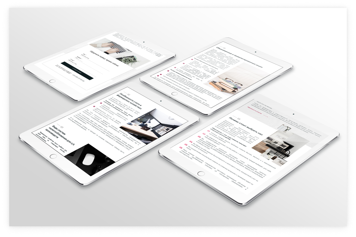 Создание сайта и разработка дизайна для отдела по г. Витебску бухгалтерской компании 10