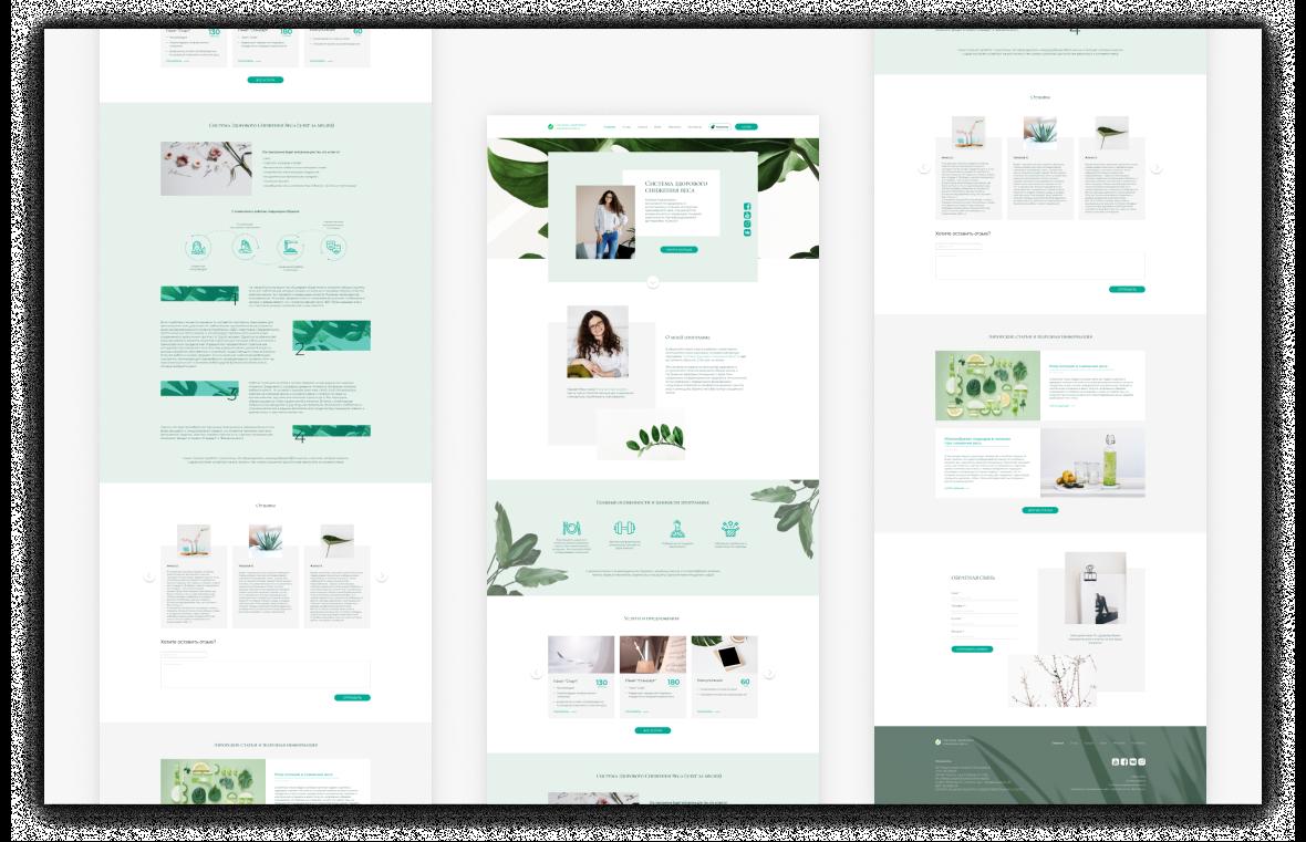 Создание сайта и разработка дизайна для программы «Система Здорового Снижения Веса» 7