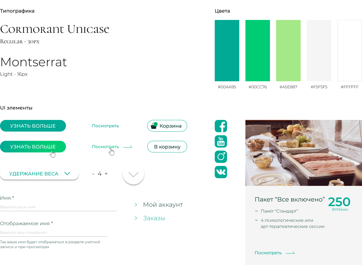Создание сайта и разработка дизайна для программы «Система Здорового Снижения Веса» 4